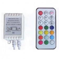RGB-контроллер CS-IR21B-12 (12V, 72W, ПДУ 21кн)