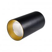 Светильник накладной SP-POLO-R85-1-15W Day White 40deg (Black, Gold Ring)