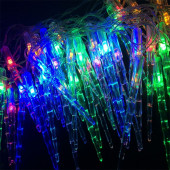 Гирлянда светодиодная СОСУЛЬКИ 40L 4м мультиколор шнур 0.5м