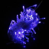 Гирлянда светодиодная 230V 100LED 7.92м, синий, цвет провода черный, IP44