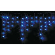 Гирлянда светодиодная БАХРОМА 100L 2х0, 5м синяя провод прозрачный с контроллером  9928 B