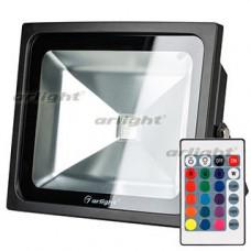 Светодиодный прожектор AR-FLB-50W-220V RGB (IR ПДУ Карта 24кн) Arlight 023853