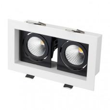 Светильник CL-KARDAN-S180x102-2x9W Warm (WH-BK, 38 deg) Arlight 024130