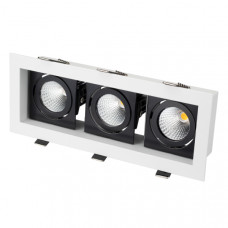Светильник CL-KARDAN-S260x102-3x9W Day (WH-BK, 38 deg) Arlight 024135