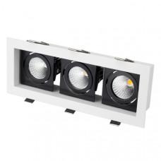 Светильник CL-KARDAN-S260x102-3x9W Warm (WH-BK, 38 deg) Arlight 024136