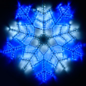 Фигура ARD-SNOWFLAKE-M6-890x890-576LED White/Blue (230V, 20W)