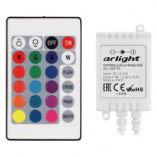 Контроллер LN-IR24B-RGB (12-24V, 3x2A, ПДУ Карта 24 кн) Arlight 025110