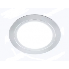 Светильник LED встраиваемый круглый D66мм, 12V, 3.2W, 3000К, 260лм, IP20, никель матовый Led-Crystal LС66-WW