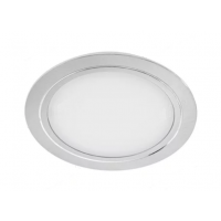 Светильник LED встраиваемый круглый D78мм, 12V, 3.4W, 6500К, 280лм, IP20, никель матовый