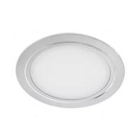 Светильник LED встраиваемый круглый D78мм, 12V, 3.4W, 3000К, 280лм, IP20, никель матовый