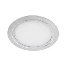Светильник LED встраиваемый круглый D78мм, 12V, 3.4W, 3000К, 280лм, IP20, никель матовый Led-Crystal LС78-WW
