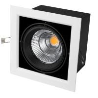 Светильник CL-KARDAN-S190x190-25W Day4000 (WH-BK, 30 deg)