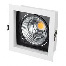 Светильник CL-KARDAN-S152x152-25W Warm3000 (WH-BK, 30 deg) Arlight 024984
