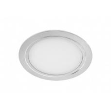 Светильник LED встраиваемый круглый D88мм, 12V, 3,6W, 3000К, 300лм, IP20, никель матовый Led-Crystal LС88-WW