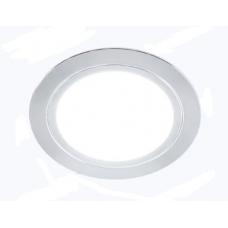 Светильник LED встраиваемый круглый D66мм, 220V, 3W, 3000К, 200лм, IP44, никель матовый Led-Crystal LС66-HV-WW