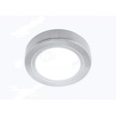 Светильник LED накладной круглый D66мм, 12V, 3.2W, 3000К, 260лм, IP20, никель матовый