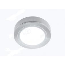 Светильник LED накладной круглый D66мм, 12V, 3.2W, 3000К, 260лм, IP20, никель матовый Led-Crystal LС66S-WW