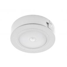 Светильник LED с датчиком движ. накл. круглый, на аккум. D66мм, 5V, 1.8W, 4000К, 60лм, IP20, серебро Led-Crystal LС66-PIR