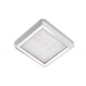 Светильник LED накладной квадратный 53х53х7.5мм,12V, 2W, 3000К, 150лм, IP20, хром
