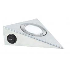 CCT Светильник LED треугольный с выключателем 12V, 3.5W, 3000-6500К, 250лм, IP20, никель матовый