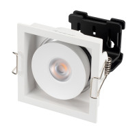 Светильник CL-SIMPLE-S80x80-9W Day4000 (WH, 45 deg)