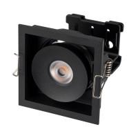 Светильник CL-SIMPLE-S80x80-9W Warm3000 (BK, 45 deg)