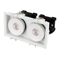 Светильник CL-SIMPLE-S148x80-2x9W Day4000 (WH, 45 deg)