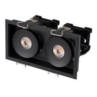 Светильник CL-SIMPLE-S148x80-2x9W Warm3000 (BK, 45 deg)