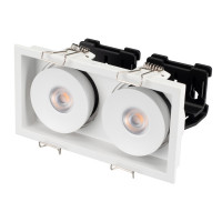 Светильник CL-SIMPLE-S148x80-2x9W Warm3000 (WH, 45 deg)