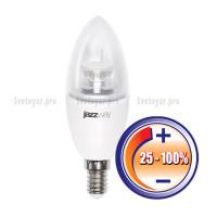Светодиодная лампа PLED- DIM C37 7w CLEAR 4000K 540Lm E14 230/50  Jazzway