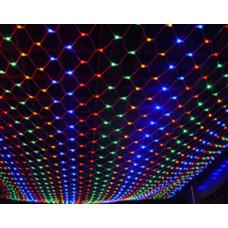 Гирлянда Сетка 1.5м х 1м,144 минилампы, мультицвет Jazzway NT144C-M