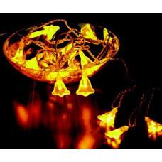 Гирлянда Колокольчики, 20 ламп, внутр., 2 м Jazzway BLD020W-SB