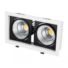Светильник CL-KARDAN-S283x152-2x25W Day4000 (WH-BK, 30 deg) Arlight 027924