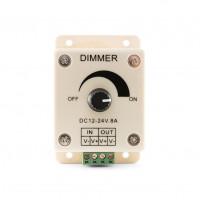 Диммер с потенциометром, настенный 12V/96W, 24V/192W