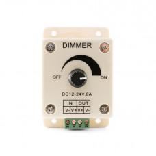 Диммер с потенциометром, настенный 12V/96W, 24V/192W Led-Crystal LC29