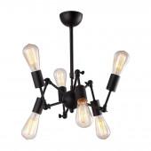 Подвесная люстра Arte Lamp A9190LM-6BK