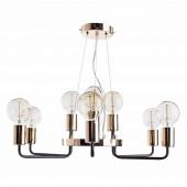 Подвесная люстра Arte Lamp Gelo A6001LM-9BK