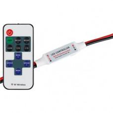 Диммер LN-RF11B-MINI-Wires(12-24V,72-144W,ПДУ11кн) Artlight 017539