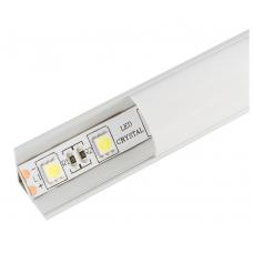 Профиль угловой в компл, с мат. экран, размер 16*16 мм, L=2М, алюмин. LR49-M Led-Crystal LR49-M