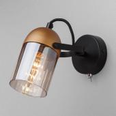 Настенный светильник Eurosvet 20122/1 черный/золото