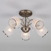 Подвесная люстра Eurosvet 30026/5 античная бронза