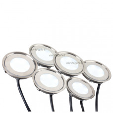 Набор KT-R-6x0.5W LED Day White 12V (круг)  Arlight 018238