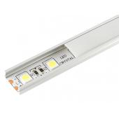 Алюминиевый профиль 15*6мм, L=2м в компл. с матовым экраном и аксессуарами (LR39-М)