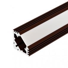 Алюминиевый профиль PDS45-T-2000 ANOD Brown Deep