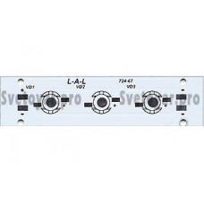 Плата 100x25-3Е Emitter (3x LED, 724-67)