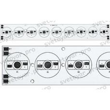 Плата 234x34-9E 3R-3G-3B Emitter (9x, 000-25)