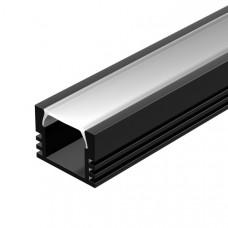 Алюминиевый профиль PDS-S-2000 ANOD Black RAL9005