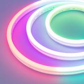 Герметичная лента DMX MOONLIGHT-5000S-SIDE-5060-84-24V RGB (12х17mm, 18W, IP67) (ARL, 18 Вт/м, IP67)