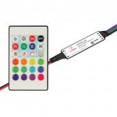 Контроллер SMART-MINI-RGB-SET (12-24V, 3x1.5A, ПДУ 24кн, IR) (ARL, IP20 Пластик, 5 лет)