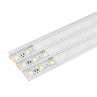 Алюминиевый профиль 9 х 56.6 х 2000 мм. с матовым экраном и аксессуарами (LR45-M)